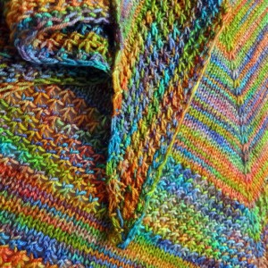 FO – Stars on the rainbow shawl