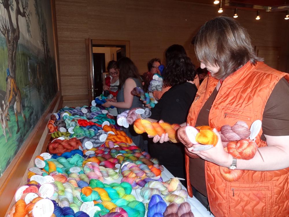 yarn petting