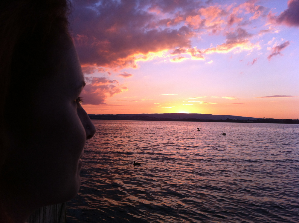 Aug 11 - After my long (and another short) flight at Zugerberg we ended the day with a swim in Lake Zug. What a nice ending of our holidays...