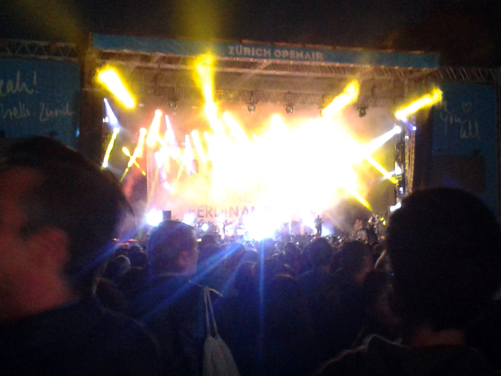 Aug 31 - Franz Ferdinand at Zurich Openair yesterday. Cool concert, great openair.