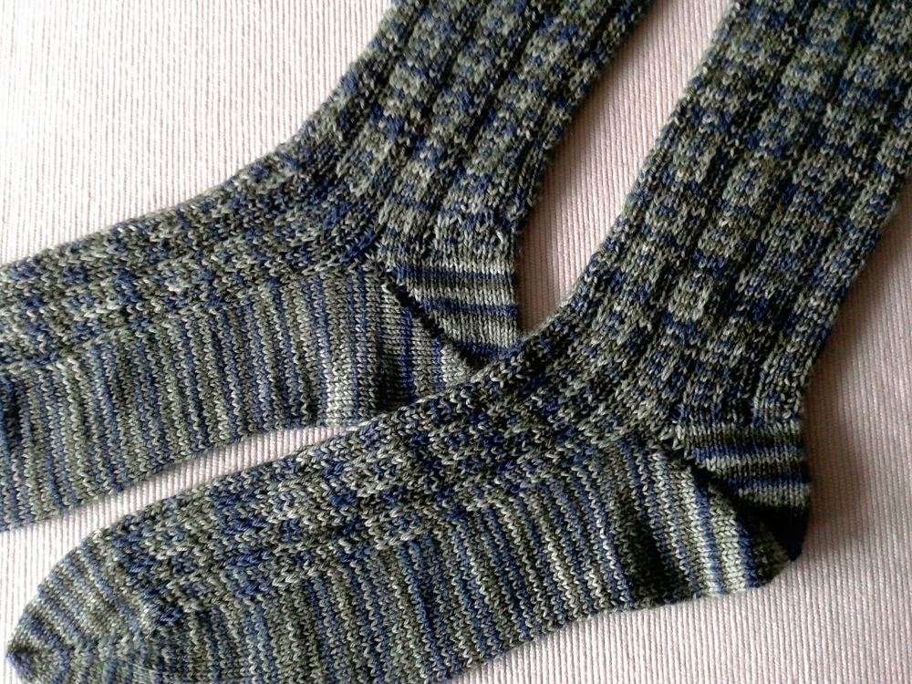 Aug 7 - recently finished project (socks for boyfriend)