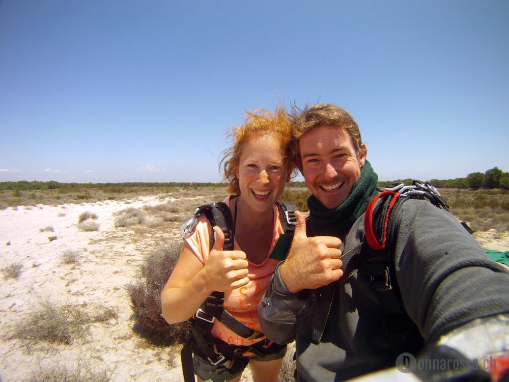 skydive - happy landing