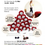 Let's knit a pouf – knitting class at the Stitching Retreat 2014