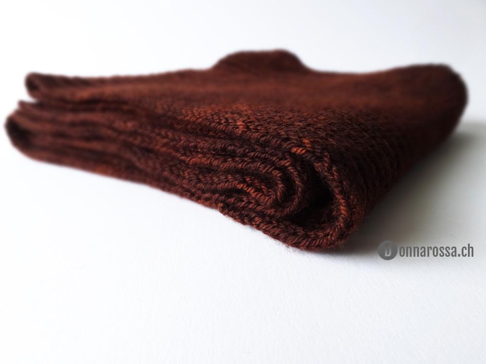 Brioche scarf - border