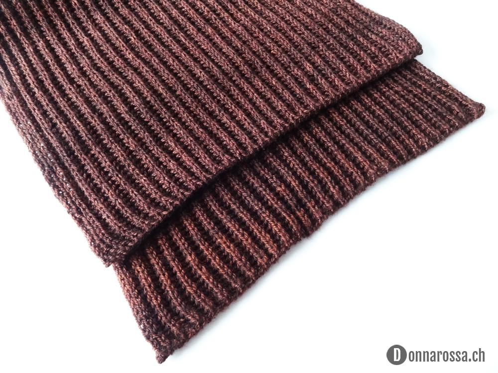 Brioche scarf - ends