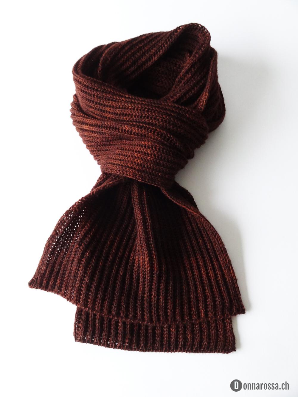 Brioche scarf - knot
