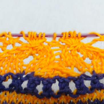 How to knit gathered stitches tutorial