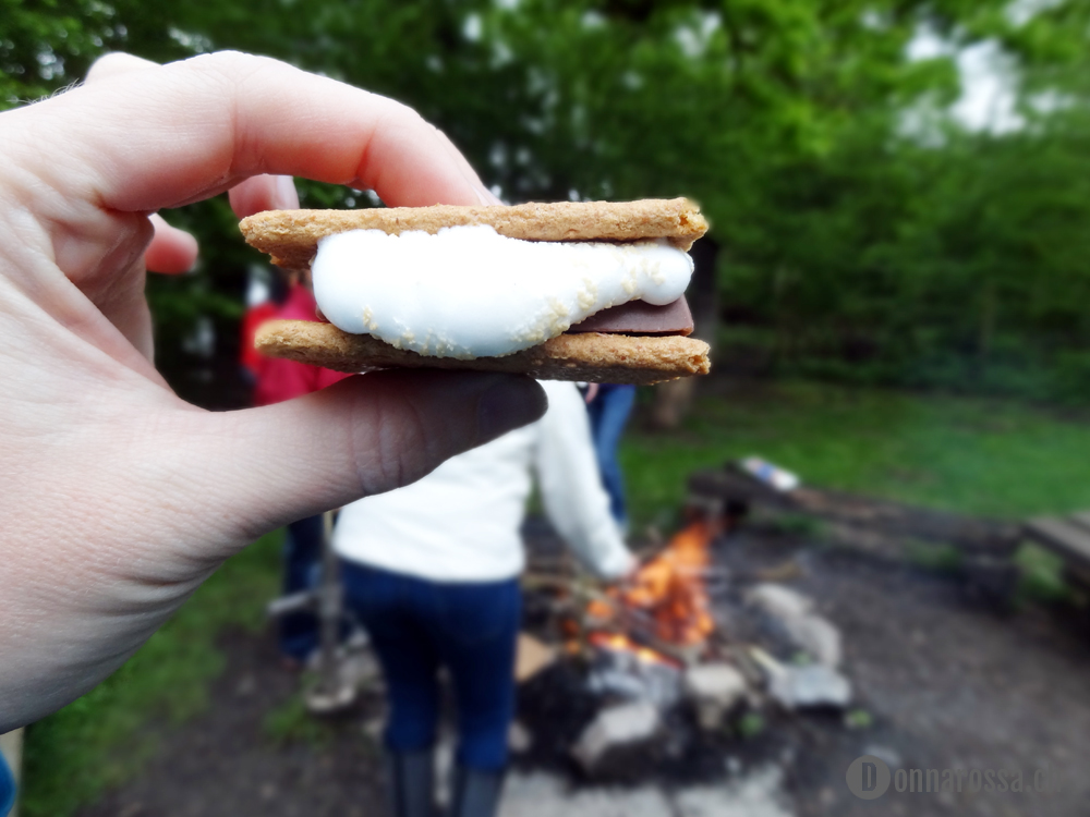 Stitching Retreat 2014 - first smores ever