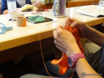 Stitching Retreat 2014 - speedy knitter