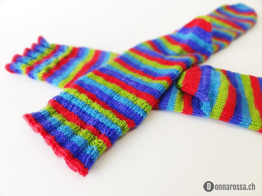 Stripey socks - cuff