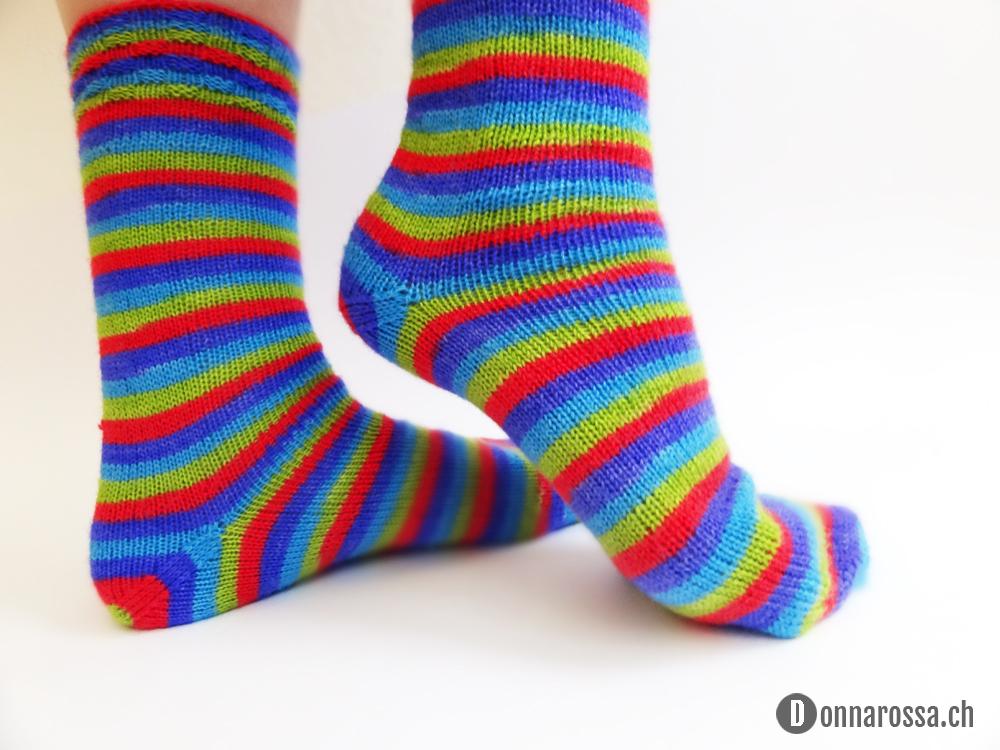 Stripey socks - heel
