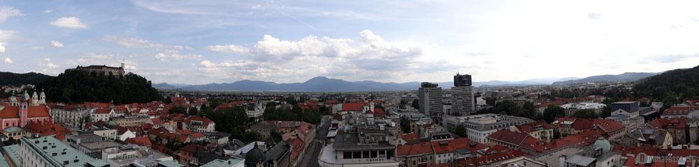 Ljubljana - panorama from Neboticnik