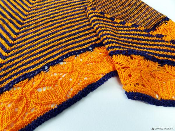 Flickflauder shawl detail butterfly schmetterling