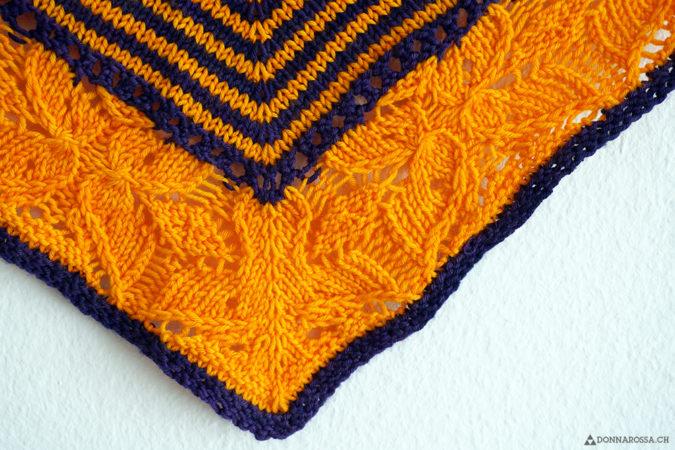 Flickflauder shawl detail center