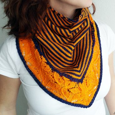 Flickflauder shawl in persona person