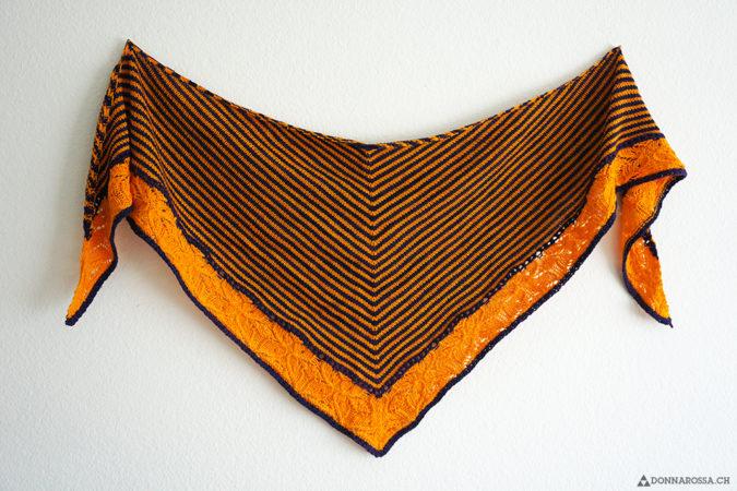 Flickflauder shawl total tuch streifen lace