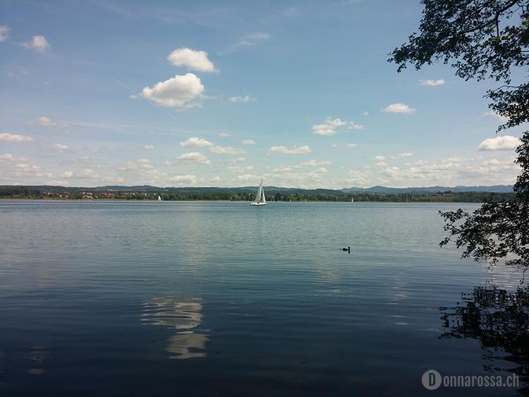 Stitching Retreat 2015 - view lake greifensee