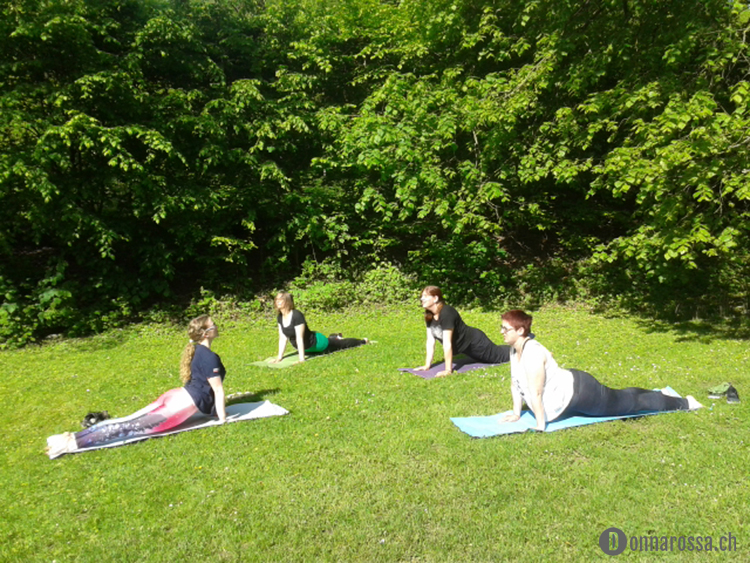 Stitching Retreat 2015 - yoga session