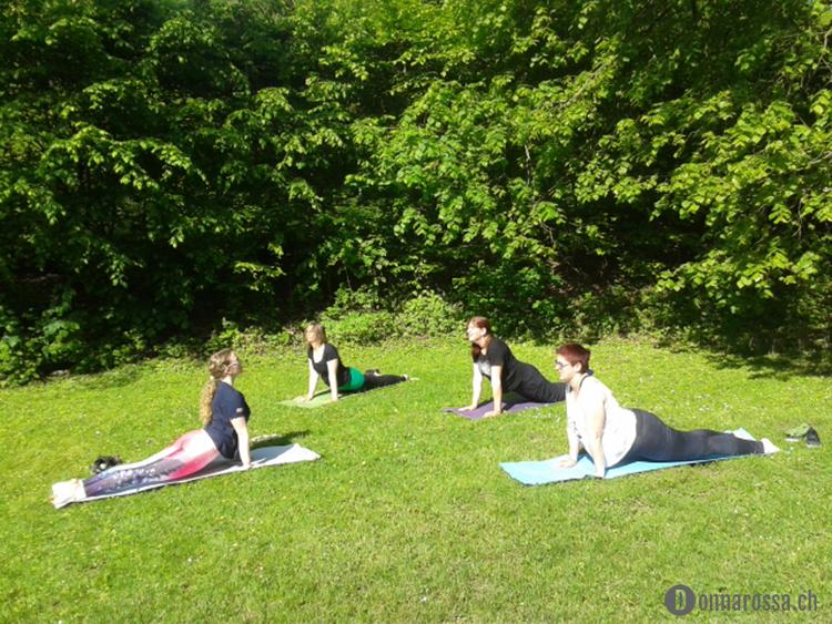 Stitching Retreat 2015 - yoga session
