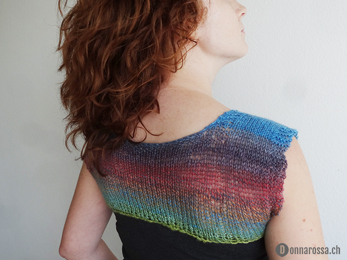 knitted yoke top - back