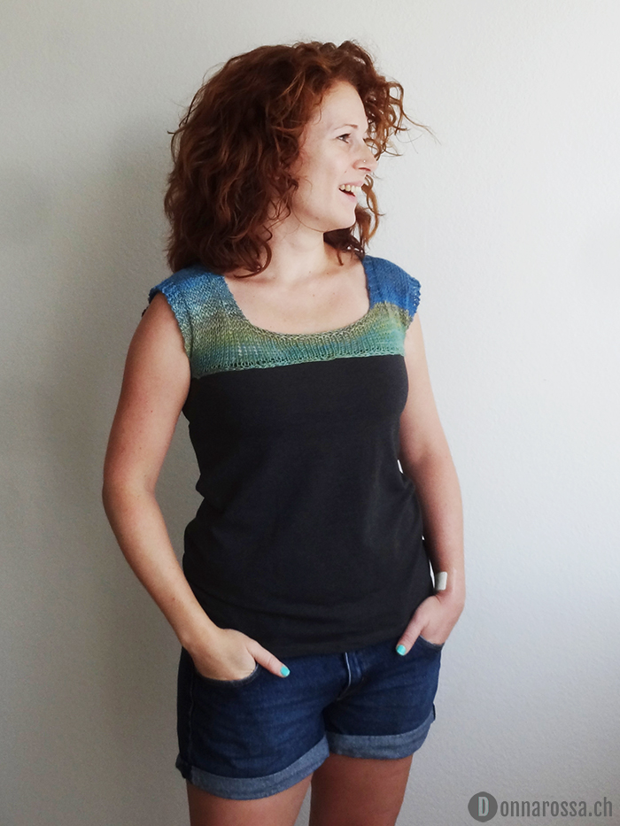 knitted yoke top - front