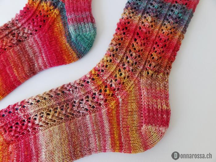 hedera socks - detail heel
