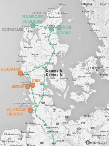 roadtrip denmark south route