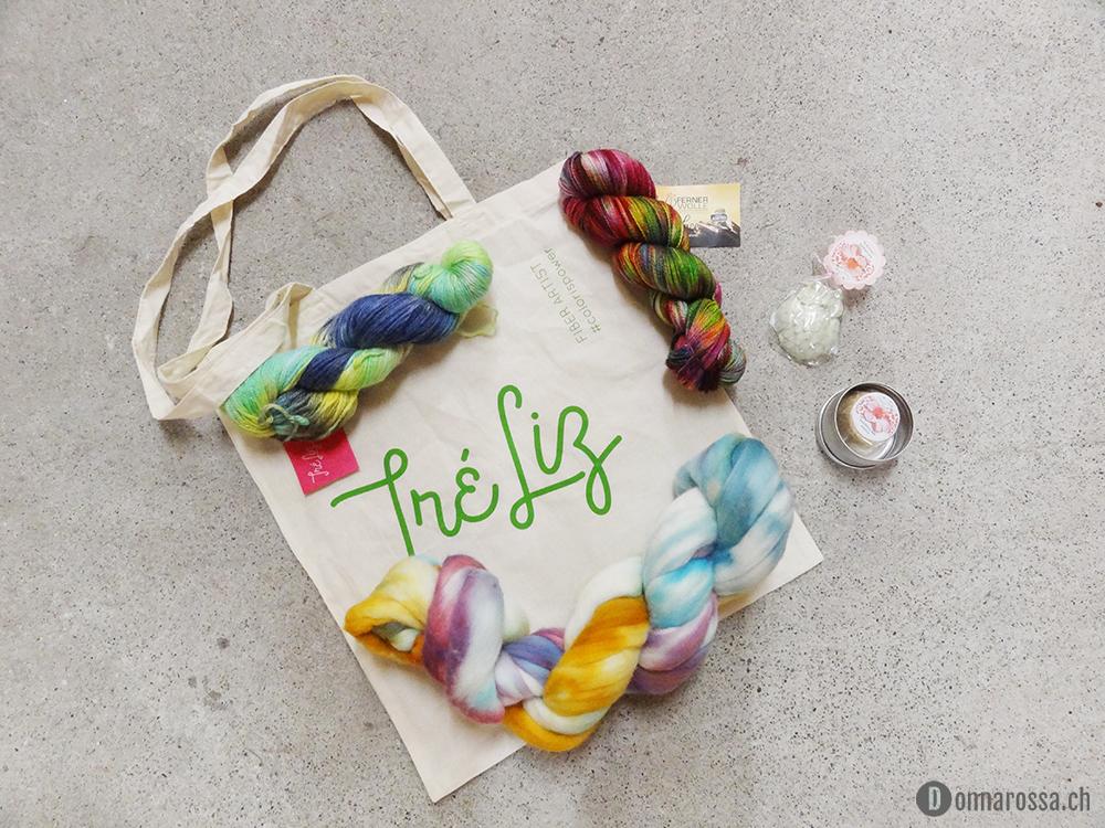 swiss yarn festival 2015 haul yarn fiber treliz ferner wolle fasern spinnen stricken