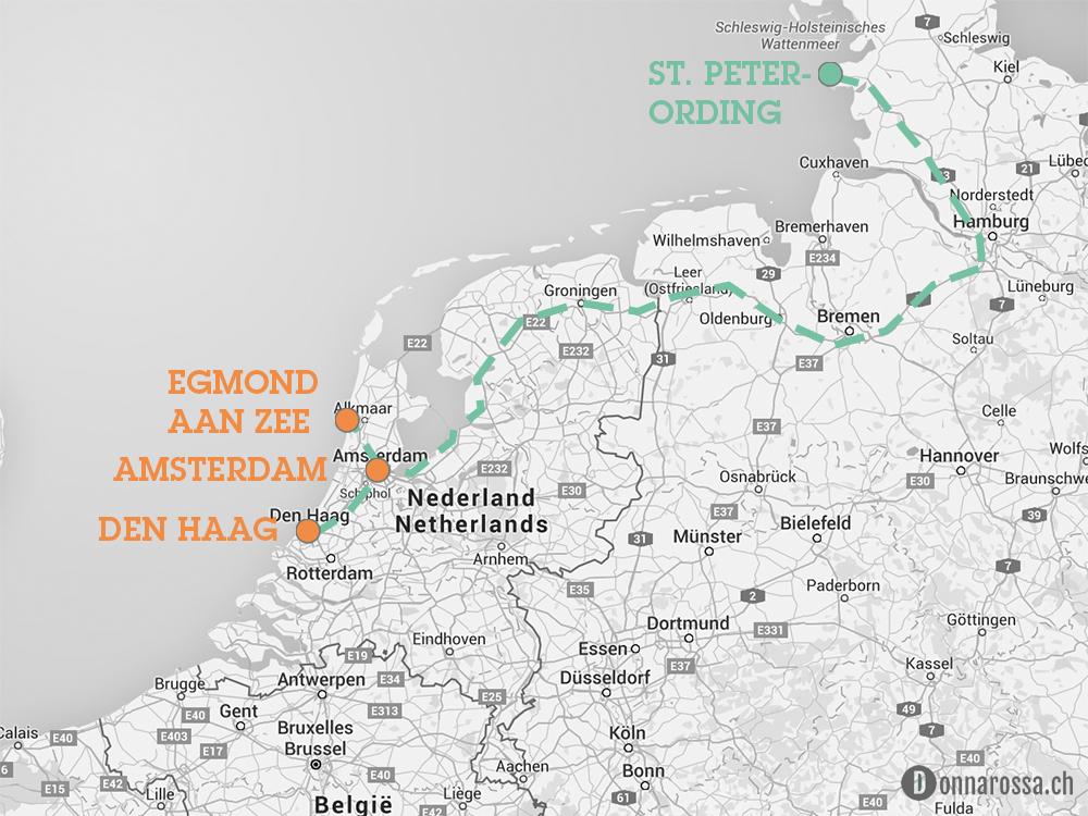 map roadtrip netherlands