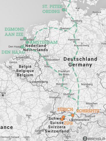 roadtrip route map karte schweiz switzerland