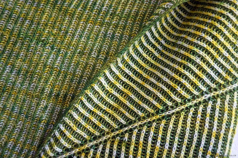 finished object askews me shawl detail