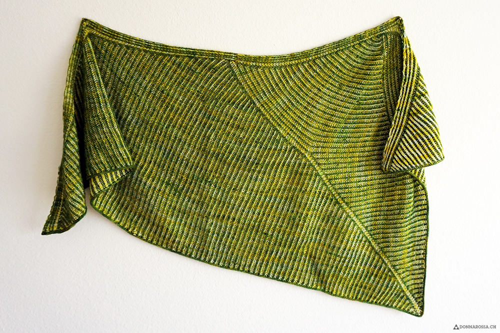 finished object askews me shawl