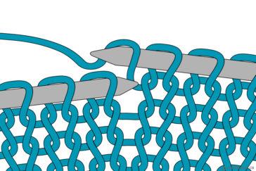 how to tutorial yarn over umschlag stricken
