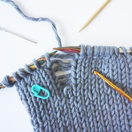 strickfehler beheben fixing knitting mistakes