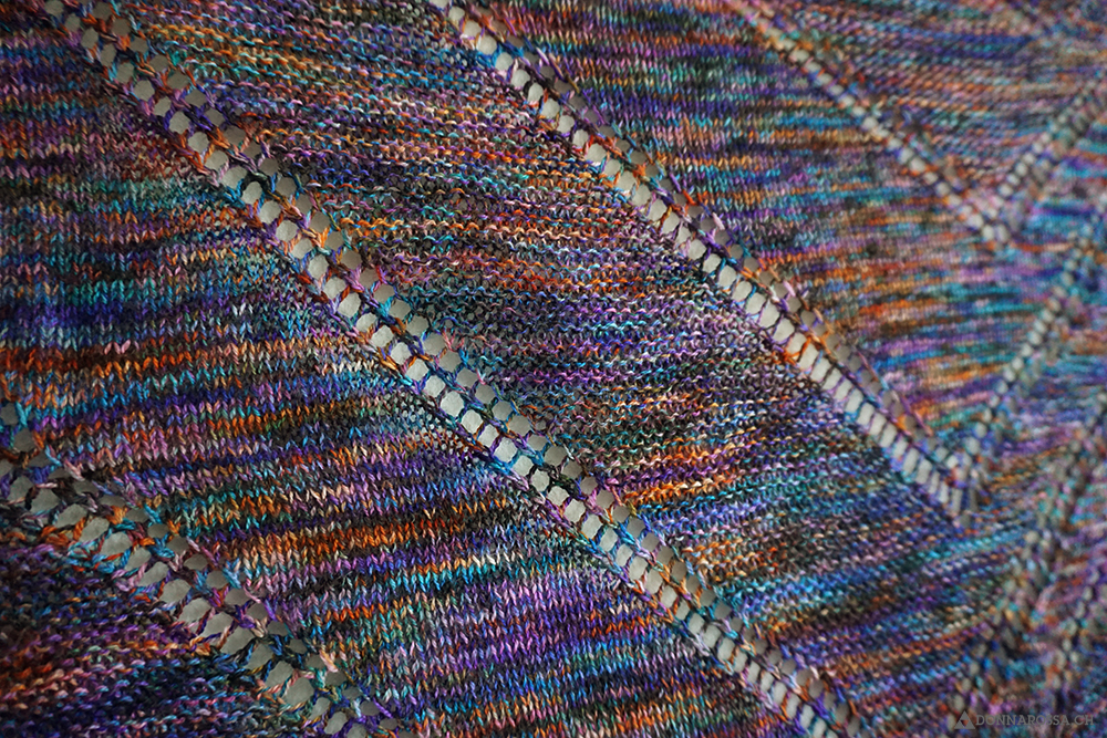fifth avenue shawl detail tuch stricken knit hedgehog fibres