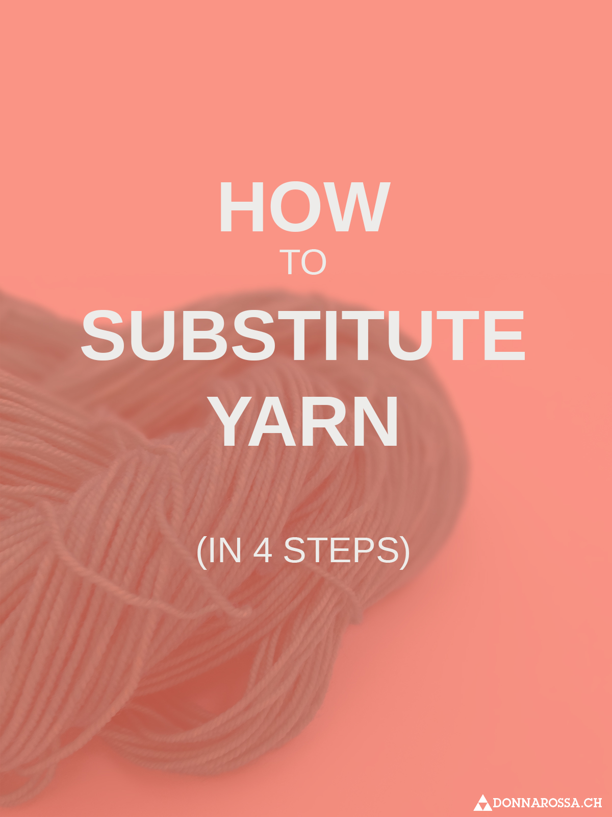 how to substitute yarn in 4 steps