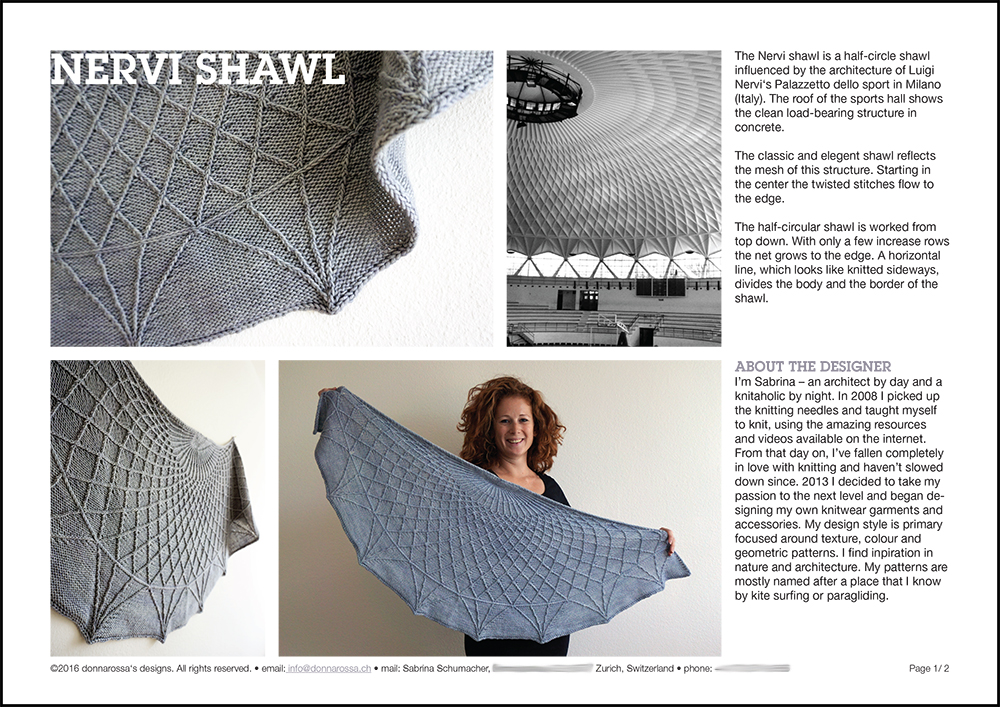 Palazzetto shawl twist collective submission page strick design stricken Tuch