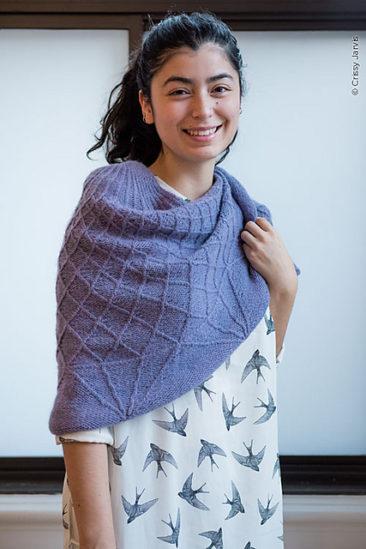 palazzetto shawl knit design strick stricken Tuch