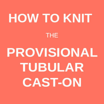 how to knit the provisional tubular cast-on technique tutorial donnarossa