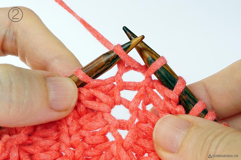Halbpatent Zunahme tiefer gestochen Schritt 2 donnarossa tutorial how to fisherman rib