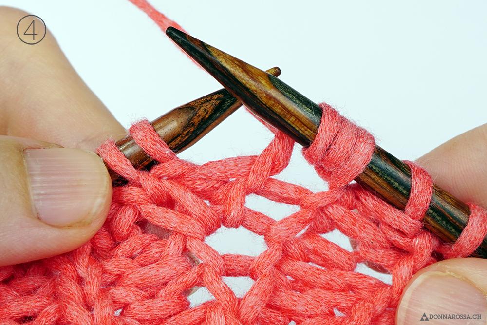 Halbpatent Zunahme tiefer gestochen Schritt 4 donnarossa tutorial how to fisherman rib
