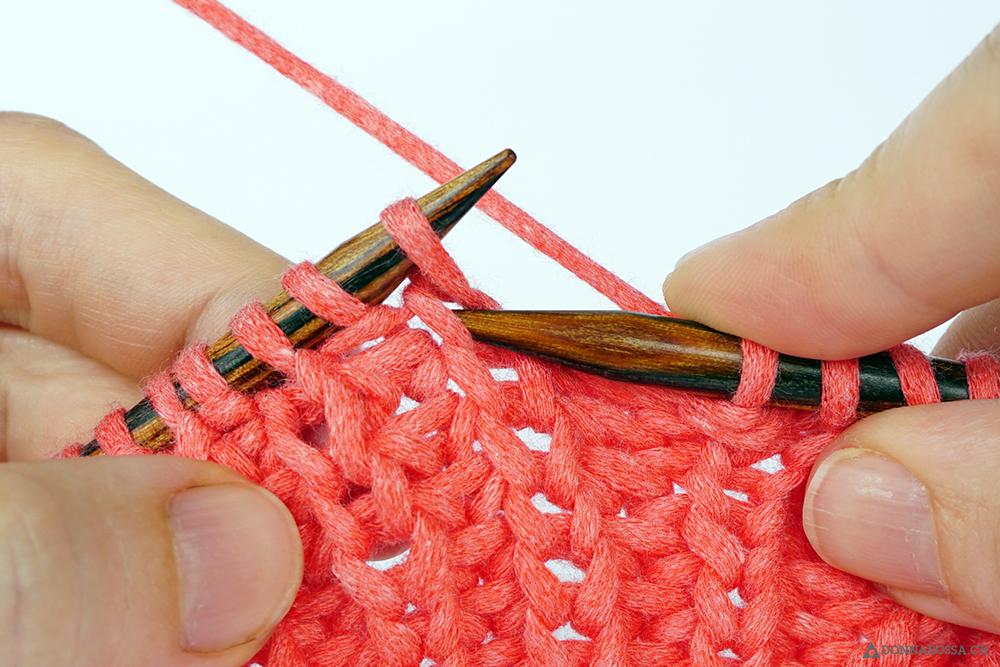 Halbpatent tiefer gestochen donnarossa tutorial how to fisherman rib knit below