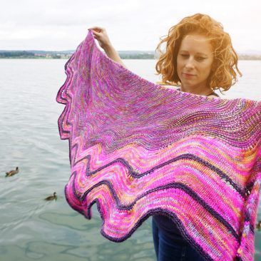 SPO shawl donnarossa designs summer light stricken pattern strickanleitung tuch