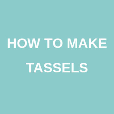 how to make tassels tutorial technique donnarossa