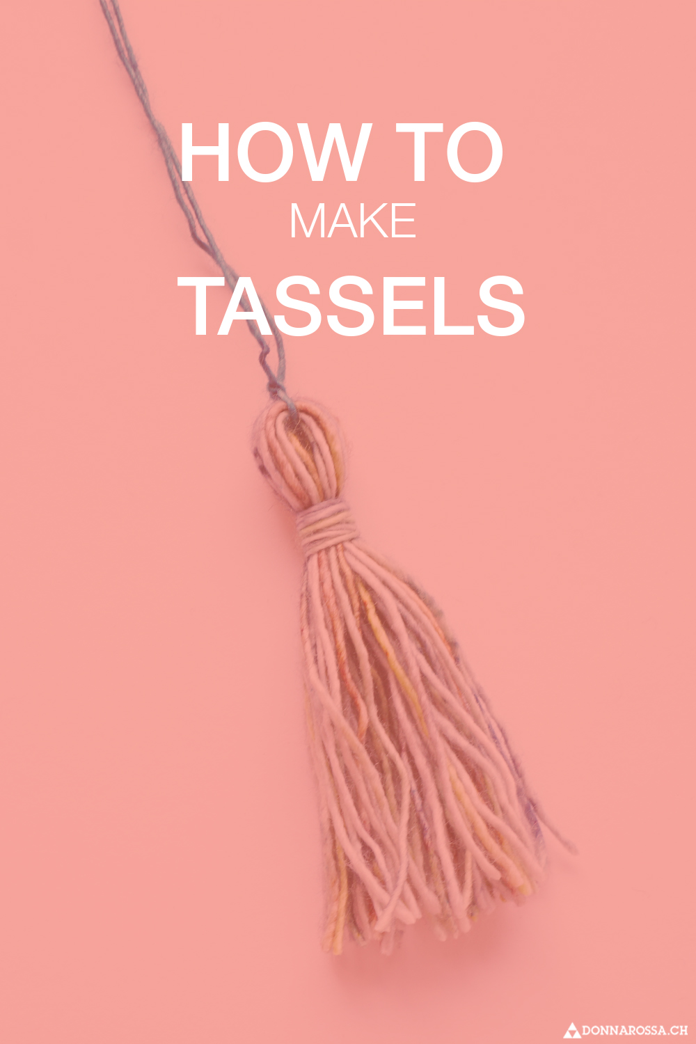 Tutorial how to make tassels create donnarossa