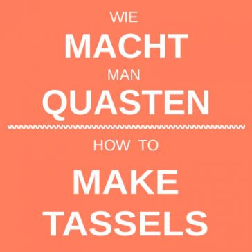 how to make tassels wie man quasten macht tutorial donnarossa