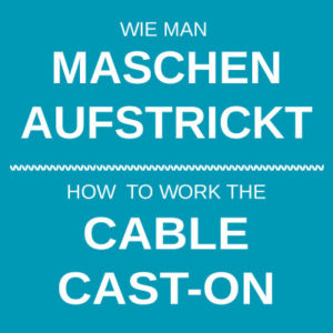 How to work the cable cast-on