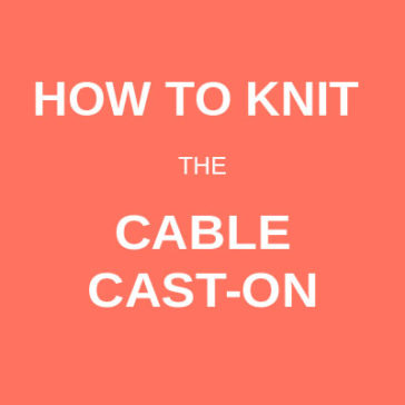 How to knit the cable cast-on tutorial technique donnarossa