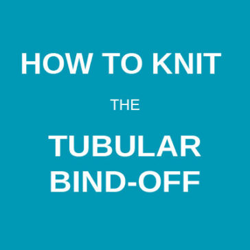 how to knit the tubular bind-off technique tutorial donnarossa