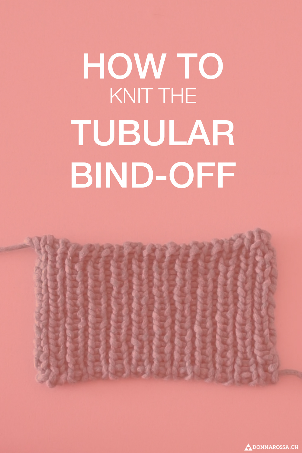 Tutorial tubular bind off knit how to cast off